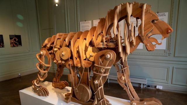 le lion de Léonard de Vinci est exposé jusqu'au 9 octobre à l'Institut culturel italien