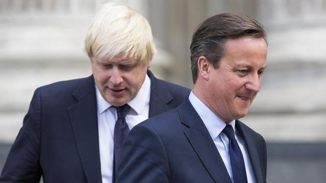 Selon David Cameron (à droite), Boris Johnson (à gauche) ne croyait pas en une victoire du Brexit lors du référendum du 23 juin 2016.