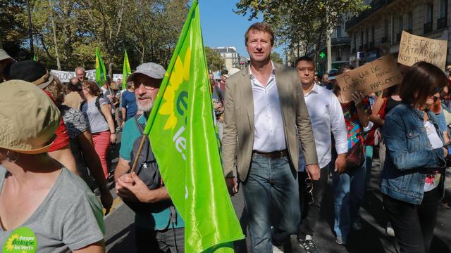 Yannick Jadot, tête de liste EELV aux Européennes, désormais élu eurodéputé.
