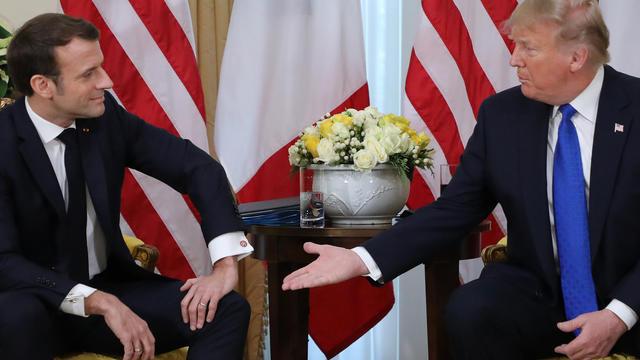 Emmanuel Macron et Donald Trump le 3 décembre à Londres.