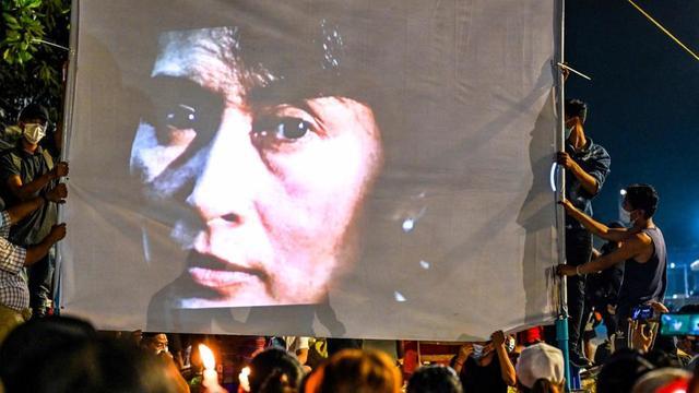 Aung San Suu Kyi n'a plus été vue en public depuis son arrestation le 1er février dernier.