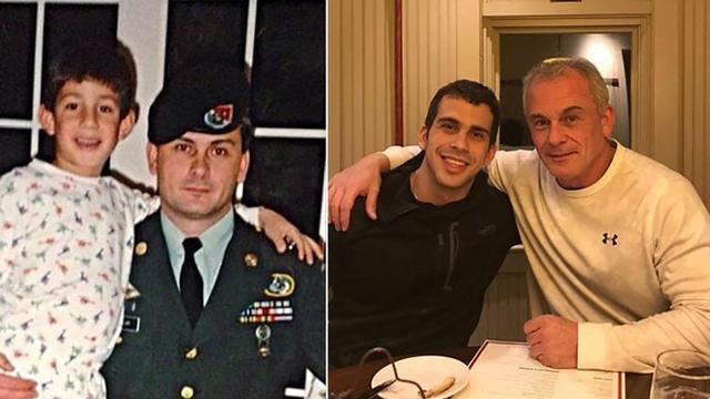 Une photo non datée fournie par la famille montrant l'ex-membre des forces spéciales américaines Michael Taylor et son fils Peter, complices présumés de l'exfiltration de Carlos Ghosn du Japon.