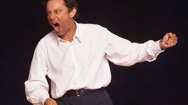 Le comédien français Philippe Caubere interprète le 5 juillet 2000 à Avignon [Anne-Christine Poujoulat / AFP/Archives]