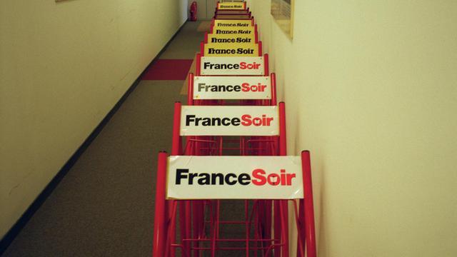 Des logos France Soir [Joel Robine / AFP/Archives]