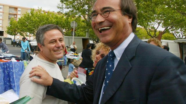 François Commeinhes (D) le 3 juin 2002 à Sète [Dominique Faget / AFP/Archives]