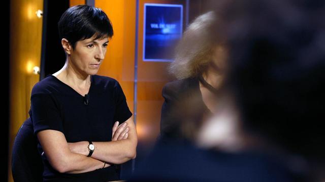 Christine Angot, le 31 août 2004 à Paris [Maximilien Lamy / AFP/Archives]