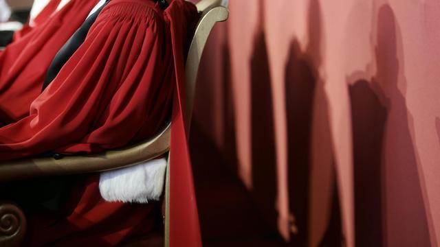 Des magistrats dans la grande salle de l'Ecole Nationale de la Magistrature de Bordeaux [Jean-Pierre Muller/Archives / AFP]