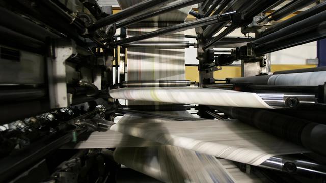Une rotative de presse [Fred Dufour / AFP/Archives]