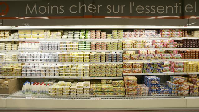 Un rayon frais dans un supermarché [Jean-Pierre Muller / AFP/Archives]