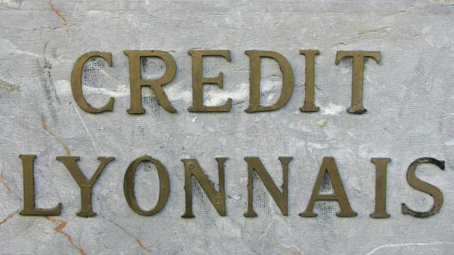 Photo prise en mai 2006 à Montpellier, du logo d'une succursale de la banque Crédit Lyonnais [Dominique Faget / AFP/Archives]