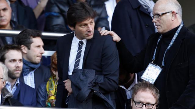 Leonardo arrive en tribunes au Parc des Princes pour le match de championnat de France PSG-Nancy, le 9 mars 2013 à Paris [Thomas Coex / AFP/Archives]