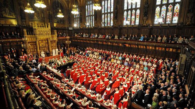 Vue générale de la Chambre des Lords à Londres [Toby Melville / Pool/AFP/Archives]