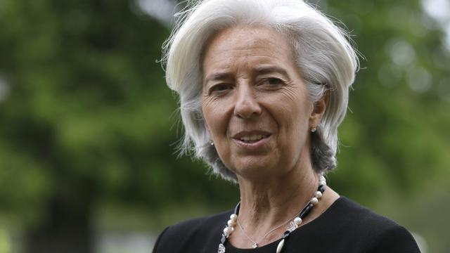 La directrice du FMI, Christine Lagarde, le 10 mai 2013 à Aylesbury dans le sud de l'Angleterre [Alastair Grant / Pool/AFP]