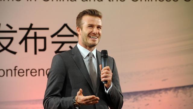 David Beckham à Pekin dans une école de football, le 20 mars 2013 [Wang Zhao / AFP/Archives]
