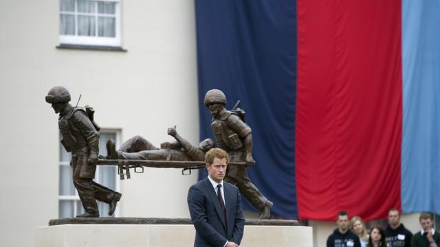 Le prince Harry, le 20 mai 2013 à Tidworth [Adrian Dennis / AFP/Archives]
