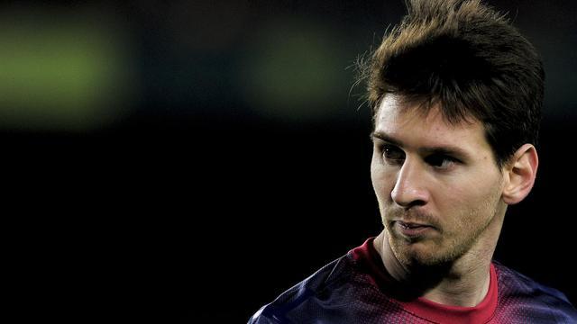 Le joueur argentin du FC Barcelone, Lionel Messi, lors d'un match contre Saragosse, le17 novembre 2012 à Barcelone [Josep Lago / AFP/Archives]
