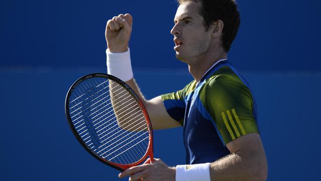 L'Ecossais Andy Murray lors de la finale du tournoi ATP du Queen's à Londres, le 16 juin 2013 [Adrian Dennis / AFP]