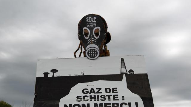 Un opposant au gaz de schiste [Joel Saget / AFP/Archives]