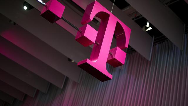"""Le logo """"T"""" de Deutsche Telekom [Odd Andersen / AFP/Archives]"""