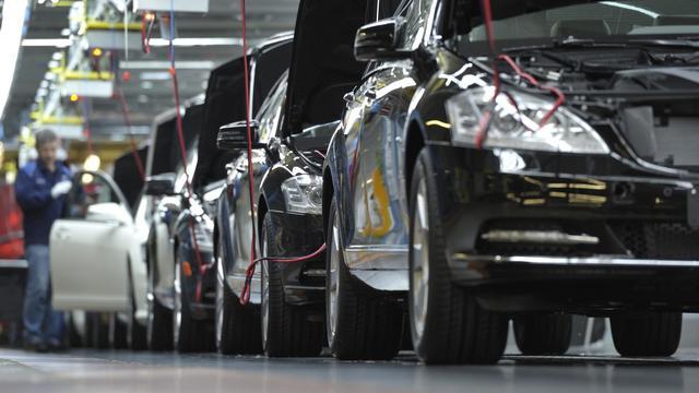 Une chaîne de montage dans une usine automobile en Allemagne [Thomas Kienzle / AFP/Archives]