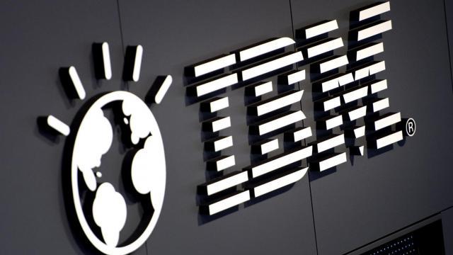 Logo d'IBM, en mars 2012 [Odd Andersen / AFP/Archives]