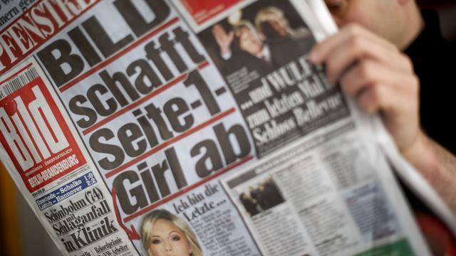 Une édition papier du Bild, le 9 mars 2013 à Berlin [Odd Andersen / AFP/Archives]
