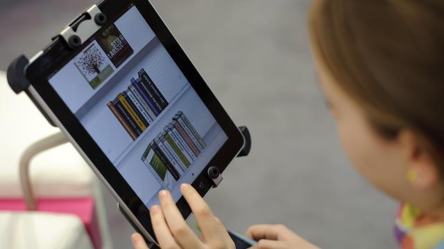 Un livre électronique iPad de la marque Apple, photographié le 15 mars 2012 à Leipzig [Robert Michael / AFP/Archives]