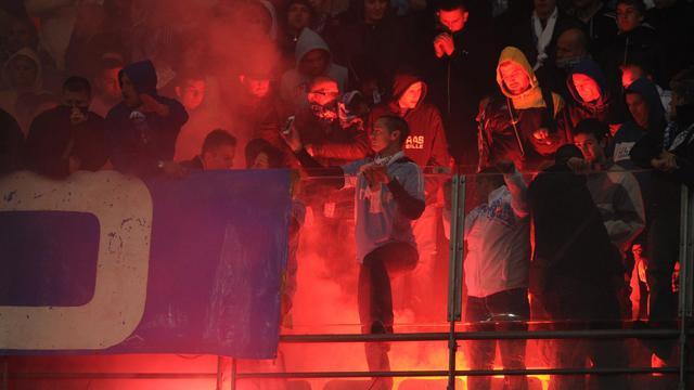 Des supporteurs de l'Olympique de Marseille lors d'un match contre Lyon [Franck Fife / AFP/Archives]