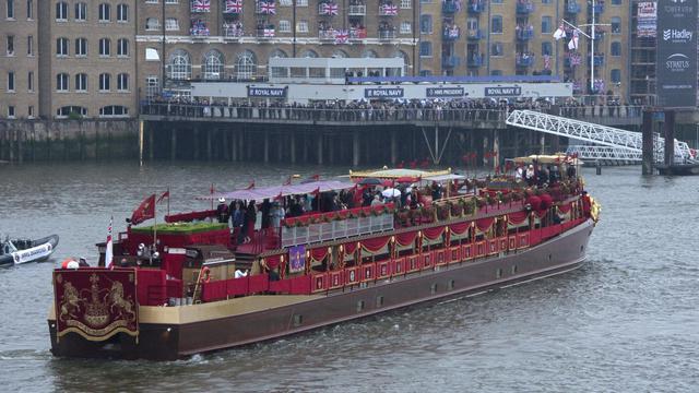 La barge royale de la reine Elizabeth II sur la Tamise, le 3 juin 2012 [Miguel Medina / AFP/Archives]