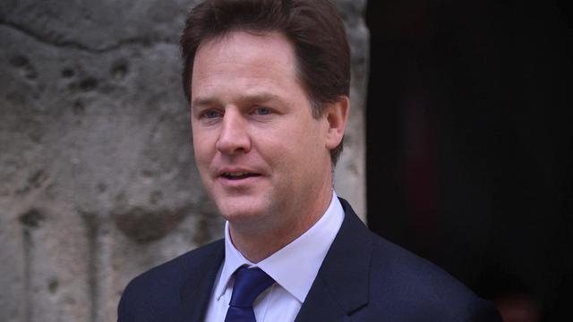 Le chef des Libéraux-démocrates et numéro deux du gouvernement britannique Nick Clegg, le 13 juin 2012 à Londres [Carl Court / AFP/Archives]