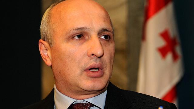 Vano Merabichvili s'exprime, le 3 juillet 2012, devant le Parlement à Tbilissi [Vano Shlamov / AFP/Archives]