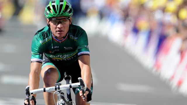 Thomas Voeckler conduira aux Championnats du monde sur route à Valkenburg (Pays-Bas), du 16 au 23 septembre, l'équipe de France de cyclisme, dont la composition a été annoncée lundi par la Fédération française de cyclisme (FFC). [AFP]