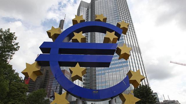 Le symbole de l'euro devant la Banque centrale européenne à Francfort [Daniel Roland / AFP/Archives]