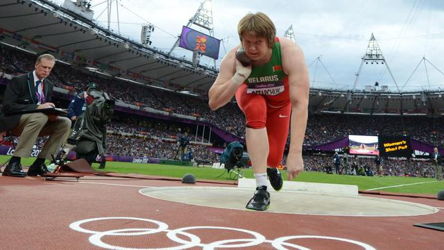 Alexander Yefimov, l'entraîneur de la Bélarusse Nadezhda Ostapchuk, dépossédée de sa médaille d'or du lancer de poids aux JO de Londres pour dopage, a été suspendu quatre ans après avoir avoué l'avoir dopée à son insu, a annoncé mardi l'Agence antidopage du Belarus [AFP]