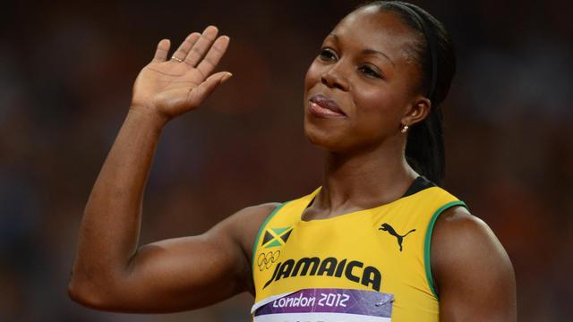 La jamaïcaine Veronica Campbell-Brown le 8 août 2012 aux Jeux olympiques de Londres [Franck Fife / AFP]