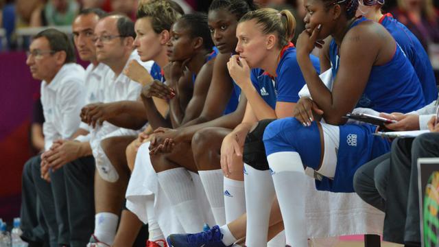 Le banc de l'équipe de France de basket lors de la finale des jeux Olympiques, le 11 août 2012, à Londres [Mark Ralston / AFP/Archives]