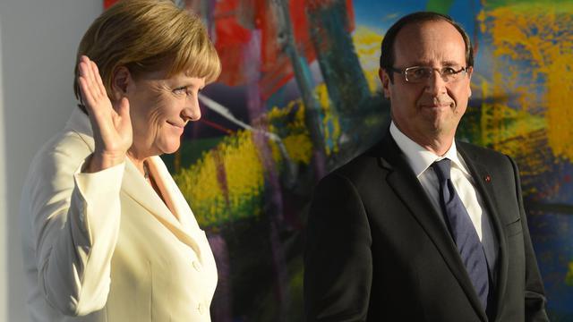 La chancelière Angela Merkel et le président François Hollande, le 23 août 2012 à Berlin [John Macdougall / AFP/Archives]