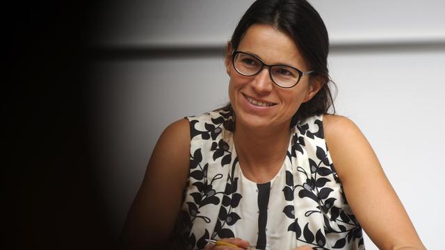 La ministre de la Culture Aurélie Filippetti, le 25 août 2012 à La Rochelle lors des Universités d'été du PS [Jean-Pierre Muller / AFP/Archives]