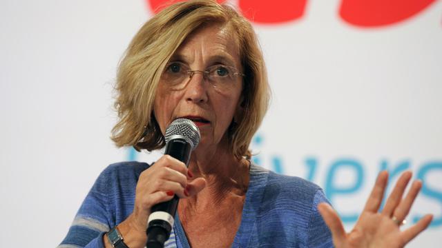 La ministre du Commerce extérieur Nicole Bricq, le 25 août 2012 à La Rochelle [Jean-Pierre Muller / AFP/Archives]