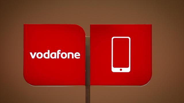 Le logo du groupe Vodafone lors d'un salon à Berlin, en 2012 [Odd Andersen / AFP/Archives]