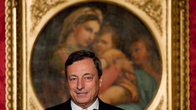 Mario Draghi, le président de la BCE, le 6 septembre 2012 à Potsdam [Klaus-Dietmar Gabbert / Pool/AFP]