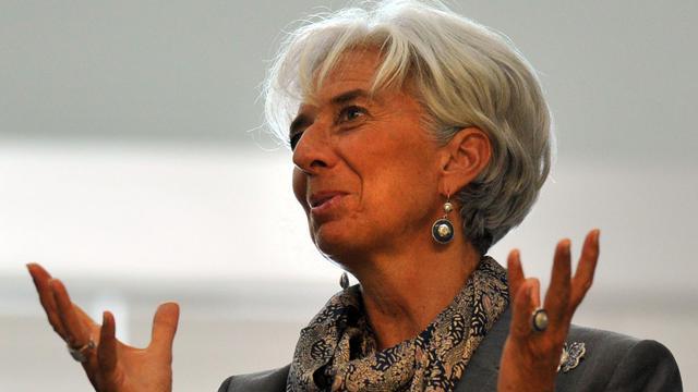 Christine Lagarde, le 9 septembre 2012 à Vladivostok [Yuri Kadobnov / AFP/Archives]
