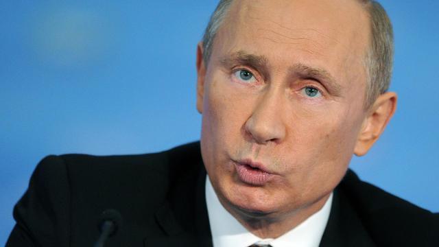 """Le président Vladimir Poutine a placé sous le contrôle et la protection de l'Etat les entreprises russes """"stratégiques"""" opérant à l'étranger dans un décret mardi, une semaine exactement après que la Commission européenne a annoncé l'ouverture d'une enquête contre Gazprom. [AFP]"""