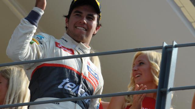 Le Mexicain Sergio Pérez (Sauber), 2e du GP de Monza, le 9 septembre 2012. [Tom Gandolfini / AFP/Archives]