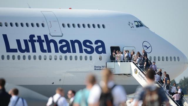 Un avion de la compagnie allemande Lufthansa [Johannes Eisele / AFP/Archives]