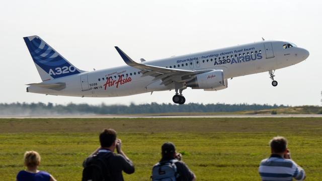Un airbus A320 décolle de l'aéroport Schönefeld de Berlin, le 11 septembre 2012 [Johannes Eisele / AFP/Archives]