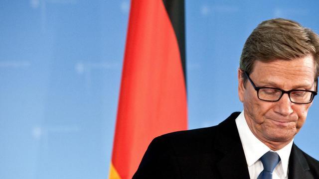 Le chef de la diplomatie allemande Guido Westerwelle en conférence de presse le 14 septembre 2012 à Berlin [Robert Schlesinger / AFP/Archives]