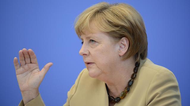 La chancelière Angela Merkel en conférence de presse, le 17 septembre 2012 à Berlin [John Macdougall / AFP]