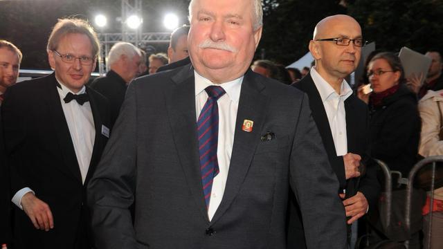 L'ancien président polonais et prix Nobel de la paix Lech Walesa, le 19 septembre 2012 à Berlin [Jens Kalaene / DPA/AFP/Archives]