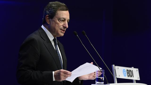 Le président de la BCE Mario Draghi le 25 septembre 2012 à Berlin [John Macdougall / AFP/Archives]
